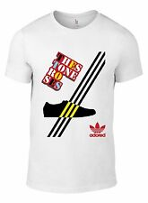 Stone Roses Logo Trainer Stripes T-SHIRT ALL SIZES Ian Brown i wanna be adored W