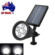 Solar Garden Spot Path Lighting Outdoor Lawn Landscape 4-LED Spotlight Lamp