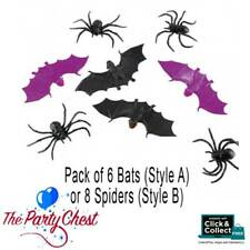 HALLOWEEN CREEPY CREATURES Spiders or Bats Party Favours Pinata Fillers 998391