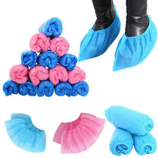 100pcs Outdoor Disposable Plastic/Woven Shoe Covers Carpet Cleaning Overshoes