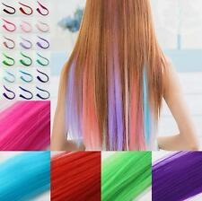 Long Multi Color 2016 Women Piece Synthetic Clip Hair Extensions Straight New