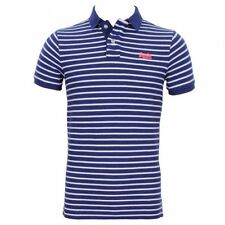 Superdry Mens Classic Windsor Stripe Short Sleeve Polo Shirt Blue (#7819)