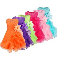 Baby Clothes Kid Girl Summer Dress Girl Pageant Wedding Dress Party Flower Dress