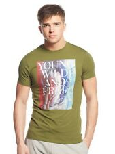 Armani Tshirt, Green, Size XL Slim Fit. Young Wild & Free Logo On The Chest