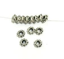 Ring ANTIQUE Tibet Silver alloy Spacer loose Beads 3*5mm USA BY EUB