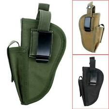 Military Tactical Hand Gun Pistol Holster W/ Mag Slot Holder Waterproof