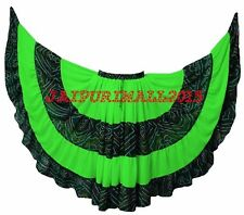 Neon Green Tribal Fusion Belly Dance Gypsy 25 Yard Skirt Jaipur JUPE Tribal ATS