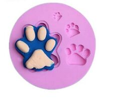 Paw prints silicone reusable resin mold mould resin jewelry making crafts