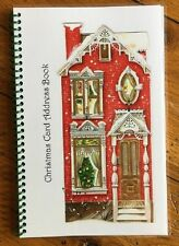 CHRISTMAS CARD ADDRESS BOOK Organizer A-Z Personalized Gift 8 yrs Roll House 230