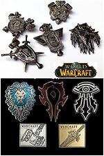 WOW World of Warcraft Collectible Horde Alliance Pin Badge