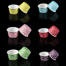 20 Pcs Mini Paper Cake Cup Liners Baking Cupcake Cases Muffin Cake Colorful   ST