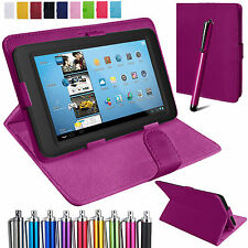 Universal Leather Stand Folding Folio Case Cover Pouch For 17.8cm Tablets Tab
