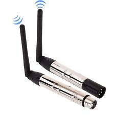 2.4G ISM DMX 512 Wireless Male XLR Transmitter Receiver for LED Stage Light M2O9