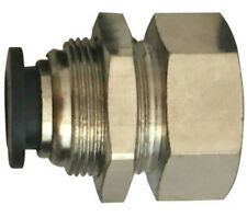 """1/4"""" OD x 1/2"""" Bulkhead Female NPT Push to Connect One Touch Air Fitting Brass"""