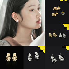 USA Women Girl Hollow Design Cute Sweet Fruit Pineapple Earring Ear Stud Fashion