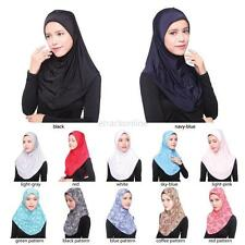 Fashion Women Muslim Islamic Hijab Inner Cap Long Soft Scarf Wrap Headwear Shawl