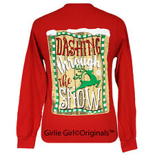 "Girlie Girl Originals ""Dashing"" Christmas Long Sleeve Unisex Fit T-Shirt"