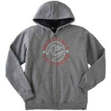 Quiksilver Boys' Sherpa Lined Hoodie - GRAY / RED (Select Size) FAST SHIPPING