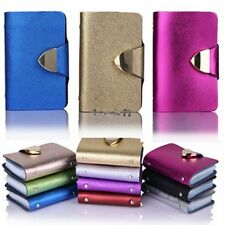 Synthetic Leather Business Case Wallet ID Credit Card Holder Purse 26Cards EA77