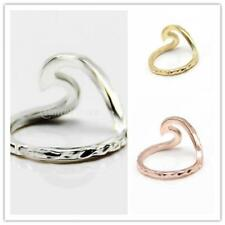 Fashion Women Bridal Wave Finger Ring Engegement Wedding Band Jewelry