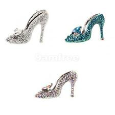 Women's Ladies Crystal Rhinestone High Heeled Shoes Collar Brooch Pin in 3 Color