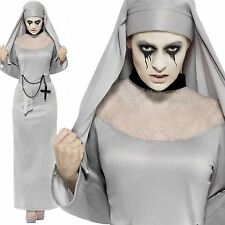 Adult Gothic Nun Costume Ladies Scary Mary Sister Fancy Dress Halloween Outfit