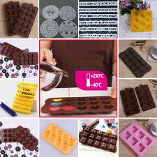 Silicone Jelly Chocolate Cube Freeze Bar Ice Maker Tray Cake Mould Mold