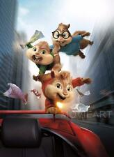 ALVIN AND THE CHIPMUNKS TEXTLESS MOVIE POSTER FILM A4 A3 ART PRINT CINEMA