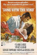 GONE WITH THE WIND VINTAGE MOVIE POSTER  FILM A4 A3 ART PRINT CINEMA