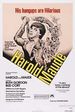 HAROLD AND MAUDE VINTAGE MOVIE POSTER FILM A4 A3 ART PRINT CINEMA