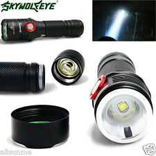 Super Brigh Zoom 5 Mode CREE XM-L2 T6 LED USB Rechargeable Flashlight Torch Lamp