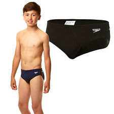 Boys Speedo Endurance+ Swimming Swim Trunks Brief Swimwear - Black