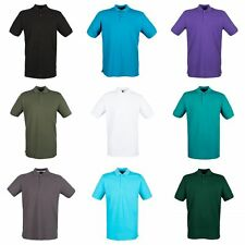 Henbury Mens Modern Fit Cotton Pique Polo Shirt
