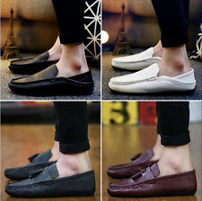 Portable Fashion Mens New Casual Black Leather Slip-On Shoes A Variety Of Styles