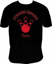 Youth Bowling Personalized Team and/or player graphic Short Sleeve T-Shirt Black