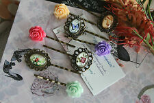 French Vintage Style Rose Bobby Pins Hair Pin / Gatsby Shoe Butterfly Bobby Pins