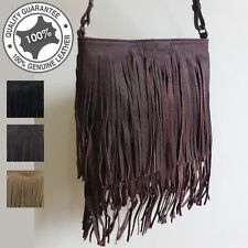 Ladies Brand New genuine Leather Small Hand Bag With Fringe Tassles High Quality