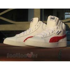 Shoes Puma 1948 mid L Jr 358988 06 sneakers Boy's Leather White Red