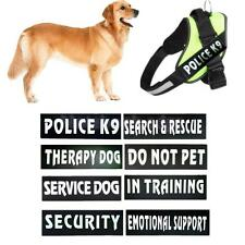 2xExtra Harness Reflective Service Work Dog Puppy Pet Band Patch Badge Label Tag