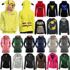 Womens Winter Warm Hooded Hoodie Sweatshirt Sport Zipper Coat Jacket Jumper Tops