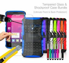 For Sony Xperia - Shockproof Hybrid Case Cover, Glass Protector & Ret Pen