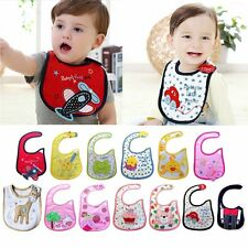 1pc New cotton waterproof Baby Boys Girls Kids Children Bibs Saliva Burp Apron ~