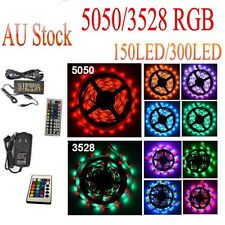 5050 3528 5M RGB SMD Light LED Strip 44Key IR Remote Controller Power Adapter