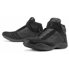 NEW ICON TARMAC 2 CE RIDING MOTORCYCLE SHOES VENTED STEALTH BLACK MEN'S 10.5