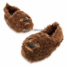 Star Wars Chewbacca Wookie Chewie SLIPPERS Plush ADULT House Shoes Disney Store