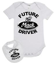 Baby Romper Suit PLUS a Baby Bib printed with FUTURE MACK DRIVER