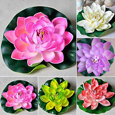 Newly Beautiful Fake Lotus Water Lily Floating Flower Home Decor Plant Ornament