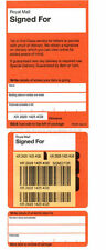 ROYAL MAIL RECORDED SIGNED FOR POSTING BOOK & 100 FLAT SIGNED FOR LABELS