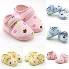 Newborn Baby Kid Cotton Crib Shoes Girl Boy Toddler Soft Sole Sneakers Shoes NEW