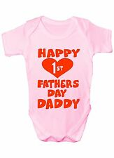 Happy Father's Day 1st Fathers Day Boys Girls Baby Babygrow 0 - 18 Months